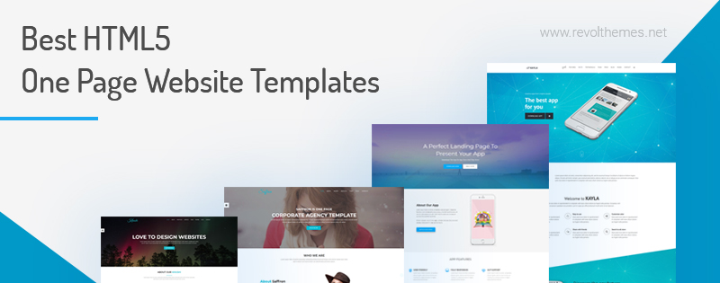 20 Best HTML5 One Page Website Templates 2018 - Revolthemes