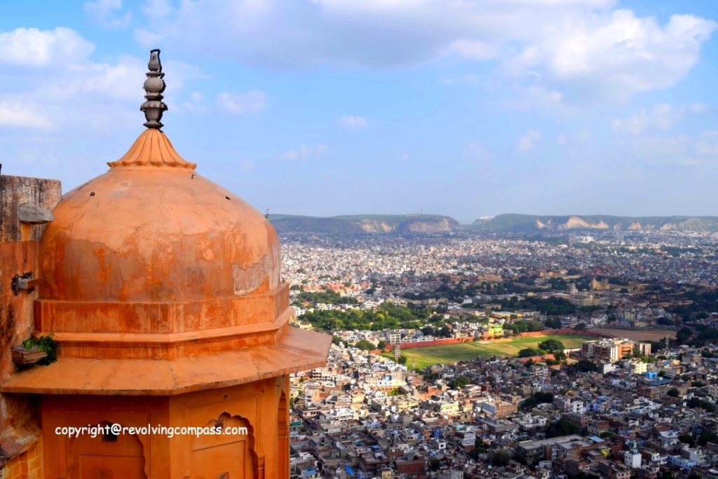 The unconquered Nahargarh Fort , Jaipur