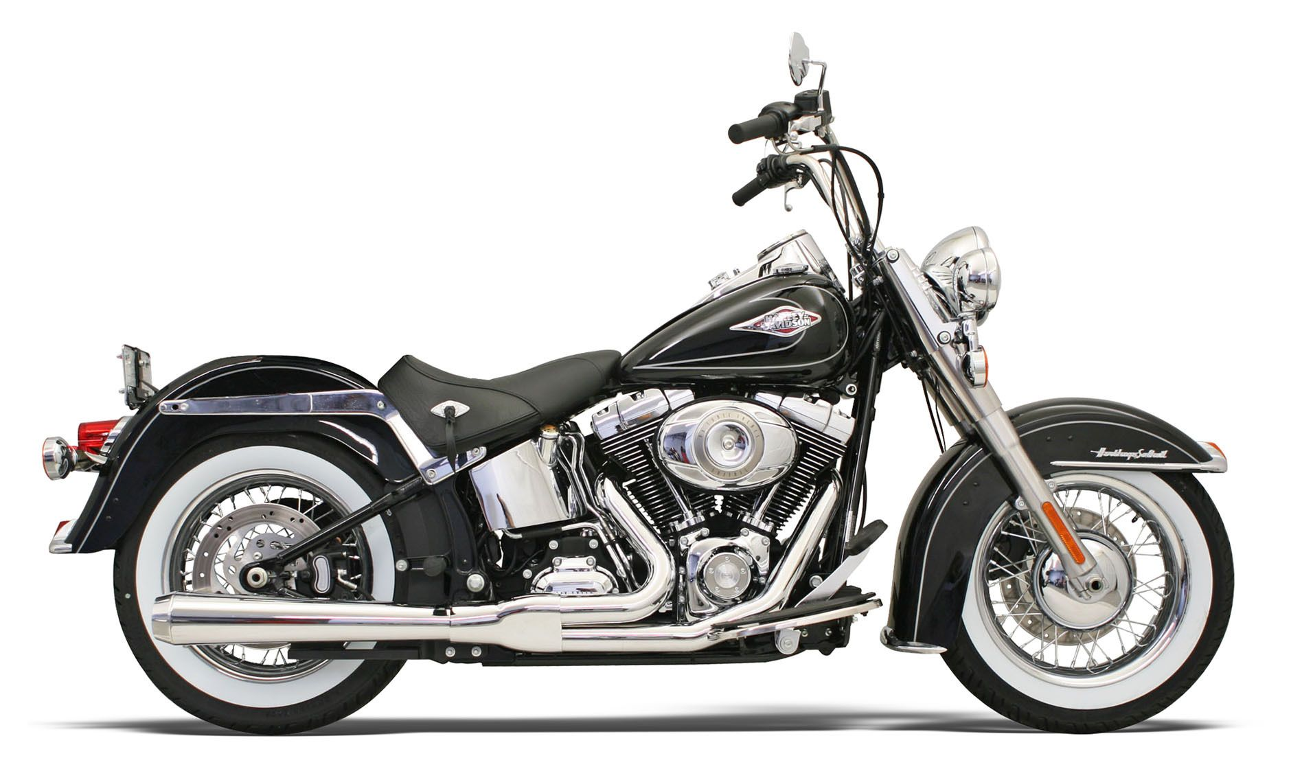 Harley Softail Bassani Road Rage 2 Into 1 Exhaust For Harley Softail 1986 2017