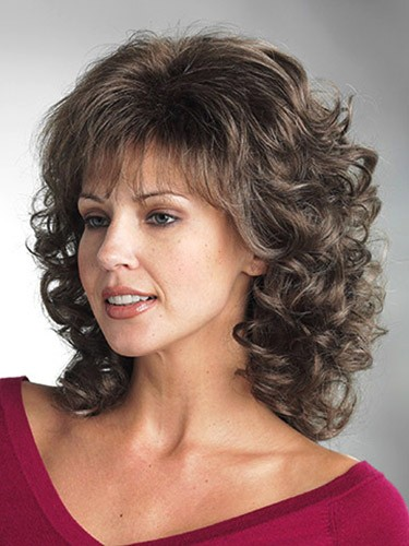 Curly Hair Length Chart Synthetic Wavy Hair Shoulder Length Wigs With Bangs