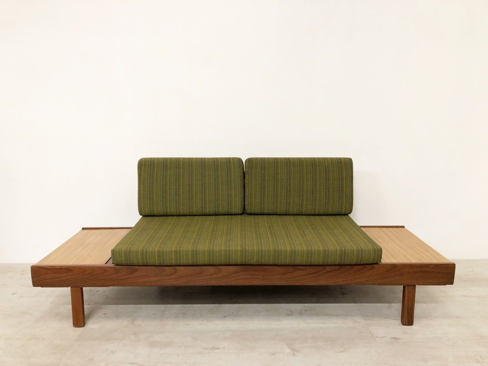 Sofa 60s Fur Pro Vintage Mid Century 60s 70s Teak Daybed Sofa Settee With