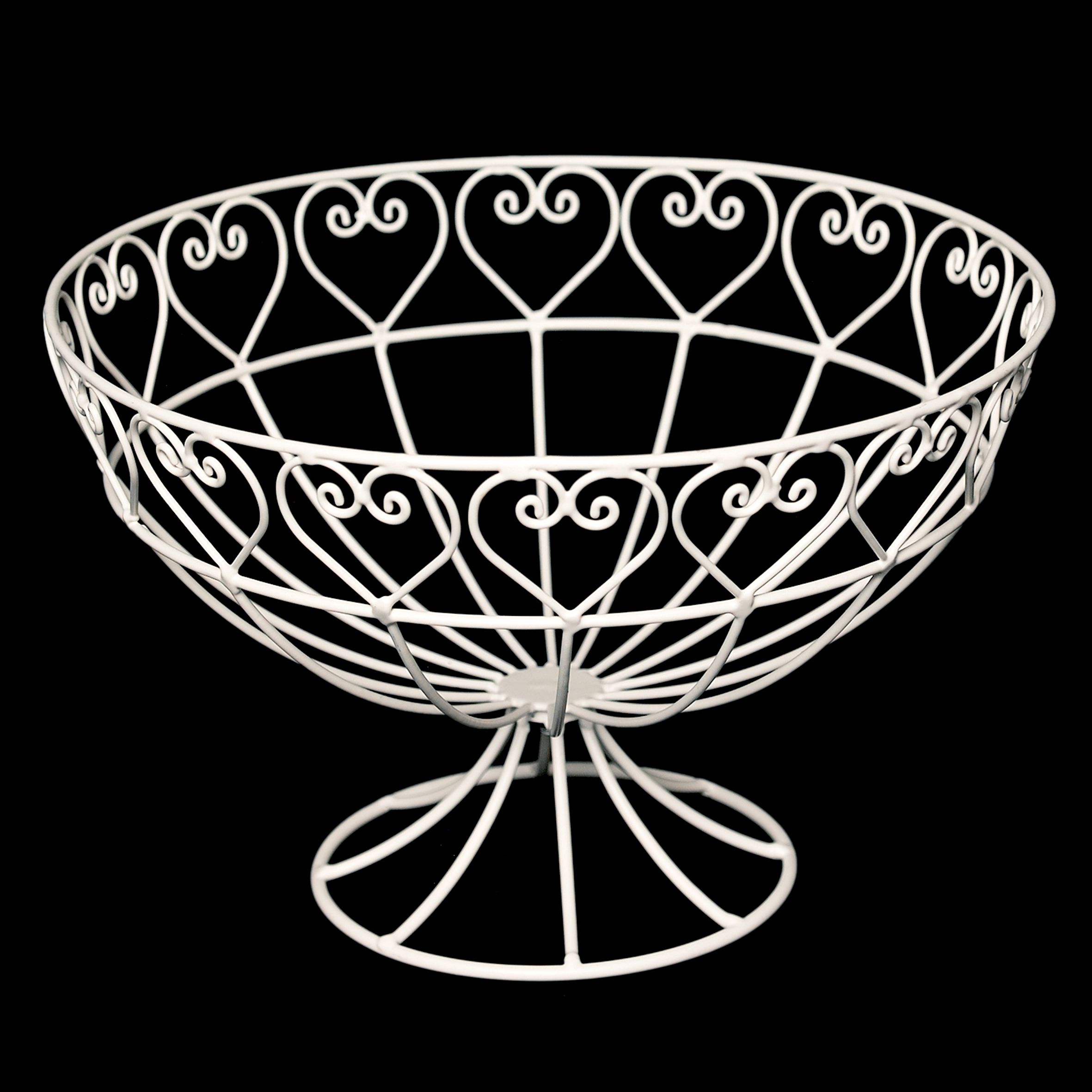 Metal Fruit Bowl Sweetheart Wire Fruit Bowl Rex London Dotcomgiftshop