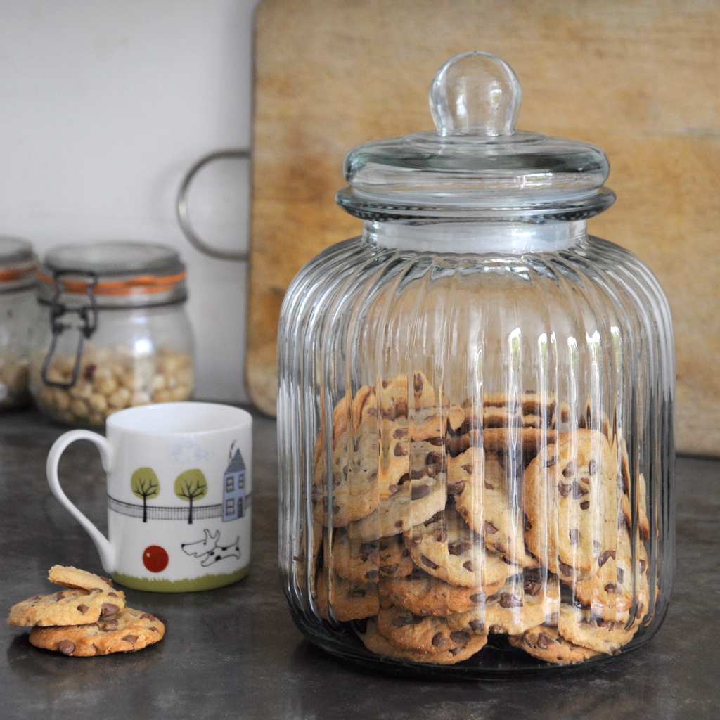 Huge Glass Cookie Jar Ridged Glass Biscuit Jar Rex London Dotcomgiftshop