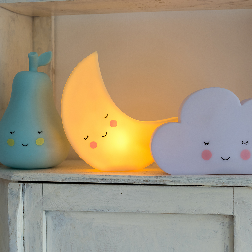 Kids Nightlight Moon Night Light Rex London Dotcomgiftshop