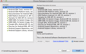 Android SDK Manager Install Process