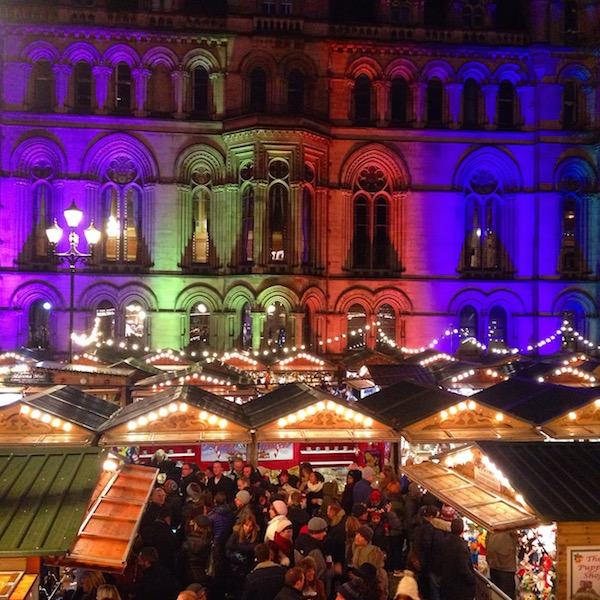Spilled Mulled Wine At Manchester Christmas Market
