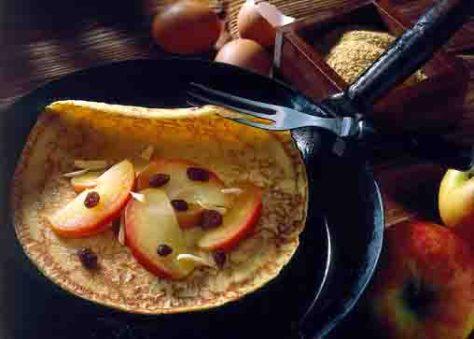 Hausmannskost: Apfel-Pfannkuchen Foto: Wirths PR