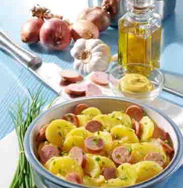 Hausmannskost: Kartoffelsalat mit Wiener