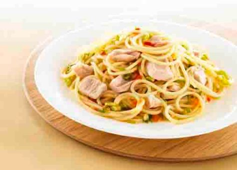 Schlanke Linie: Chili-Spaghetti mit Thunfisch Foto:  Wirths PR/ J. West