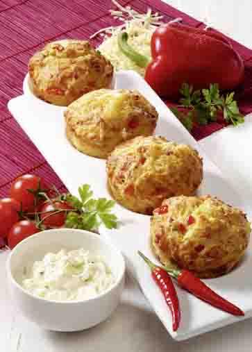 Pikante Vollkorn-Muffins für Diabetiker Foto: Wirths PR