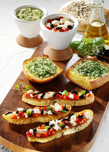 Snacks & Fingerfood: Bruschetta rusticale Foto: Wirths PR