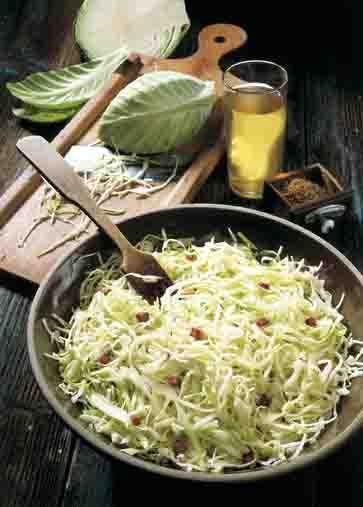 Kohl-Rezepte: Weißkrautsalat Foto: Wirths PR
