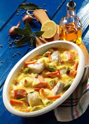 Gemüse-Fischragout (cholesterinarm) Foto: Wirths PR