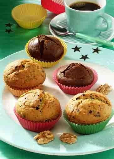 Weihnachts-Muffins / Schoko-Nuss-Muffins Foto: www.weihnachtsmenue.de