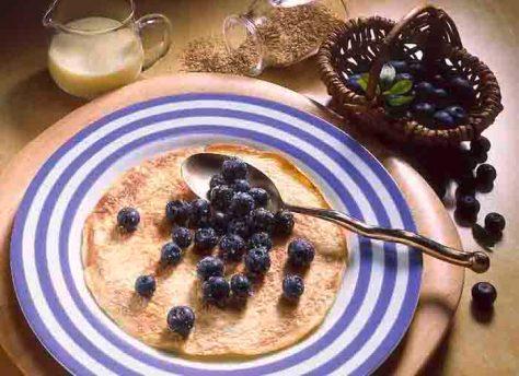 Vitamin E: Heidelbeer-Pfannkuchen © Wirths PR