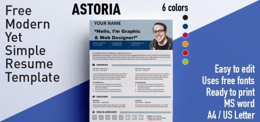 Free Resume Templates Using Arial Font Rezumeet