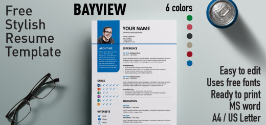 Orienta - Free Professional Resume \/ CV Template - microsoft free resume template