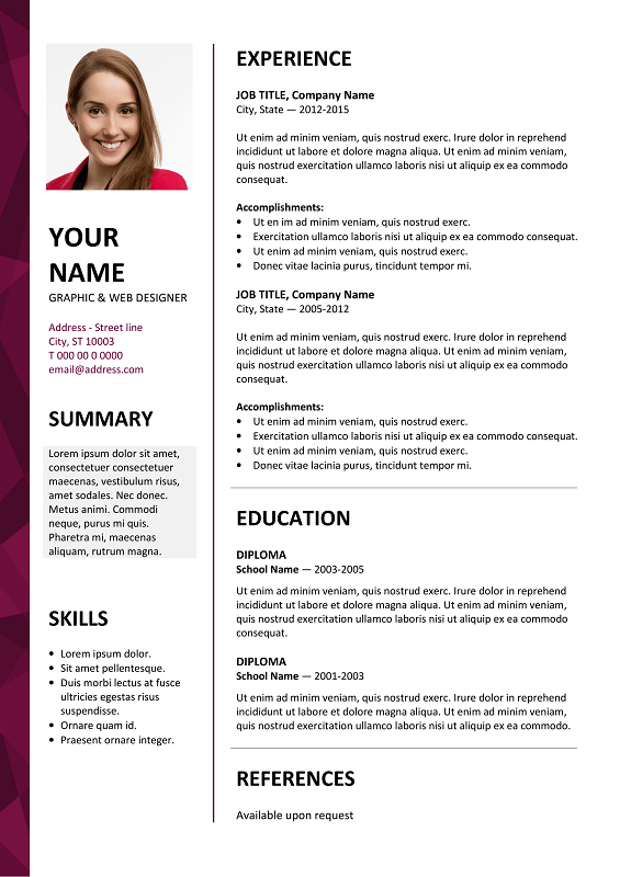 free resume upload and edit