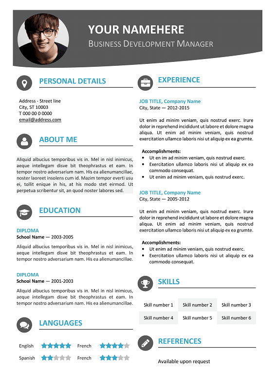 Template For Professional Resume In Word Professional Resume Template Hongdae Modern Resume Template