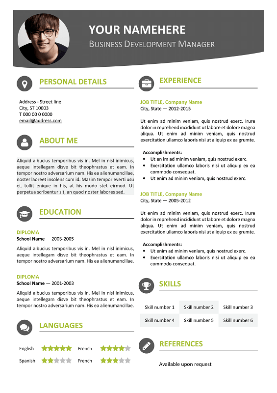 resume templates docx creative resume templates hloom hongdae modern resume template