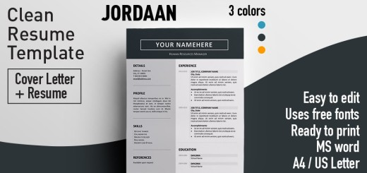 fancy cv template free download
