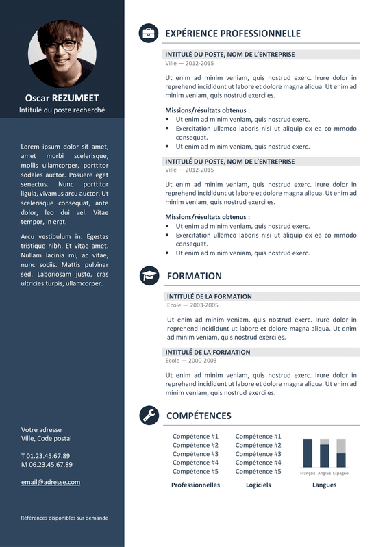 image cv lettre de motivation