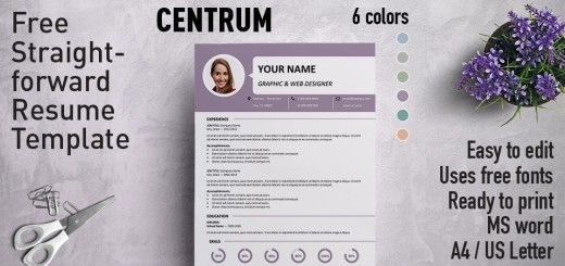 Ueno - Professional Resume Template - Free Resume Microsoft Word Templates