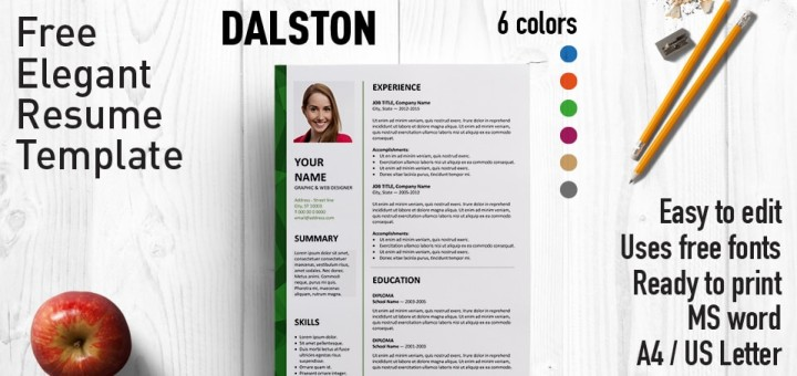 Dalston - Newsletter Resume Template - Free Resume Microsoft Word Templates