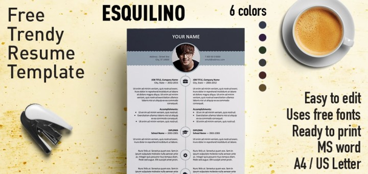 Esquilino - Modern Resume Template - modern resume templates