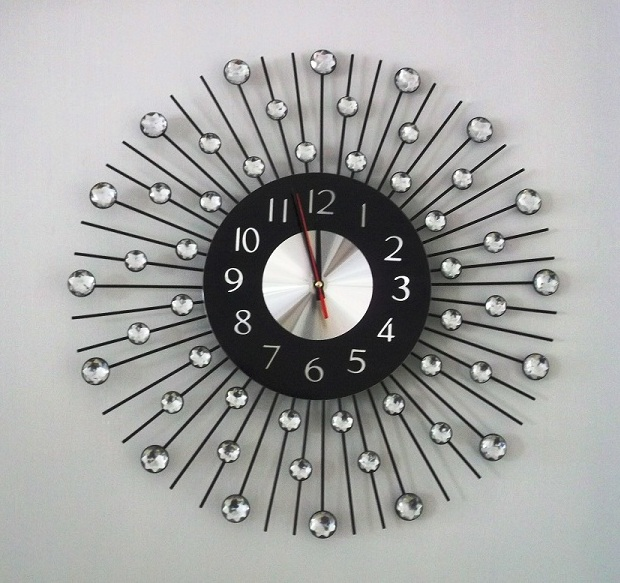 Sunburst Clock Wall Clocks – Sizes, Shapes, Framing And Personality - Rfc
