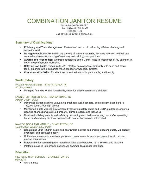 janitorial resumes cleaning resume sample seangarrette maintenance livecareer - Custodian Resume Sample