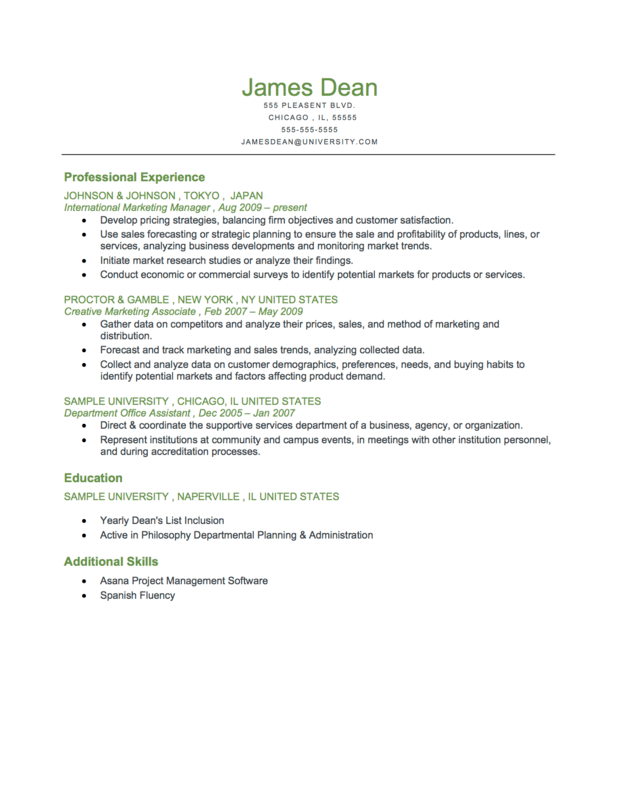 resume template chronological format top