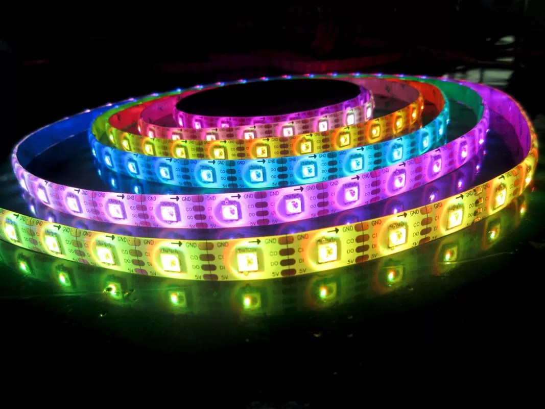 Strip Led Color Chasing Dmx Programmable Control Strip Apa102
