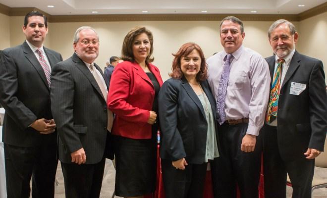 From left to right: Alex Meade, Eduardo Campirano, Naomi Perales, Norma Salaiz, Joey Treviño, and Thomas E. Dearmin.