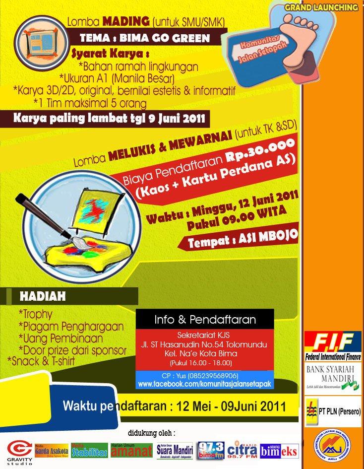 Tema Seminar Kesehatan Contoh Poster Slogan Pendidikan Lingkungan Kesehatan Bima Go Green Lomba Mewarnai Menggambar Dan Mading Kjs