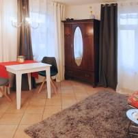 Essbereich im Rheintor-Apartment