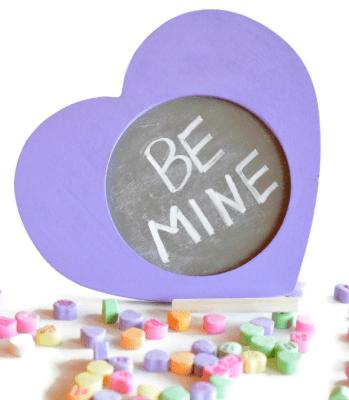 Conversation Heart Chalkboard