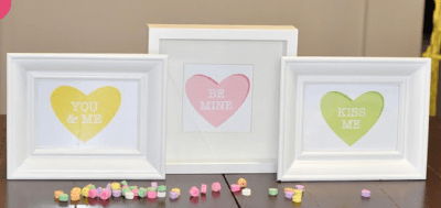 Conversation Hearts as art prints