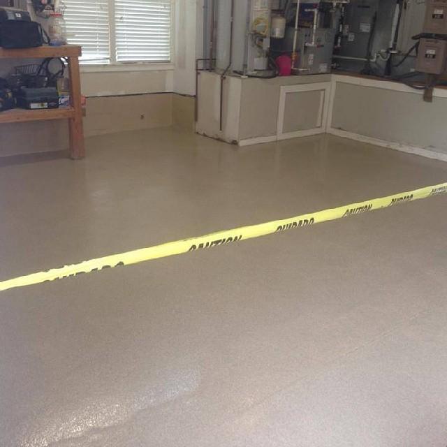 Garage Floor Installed With Homepro Sandstone