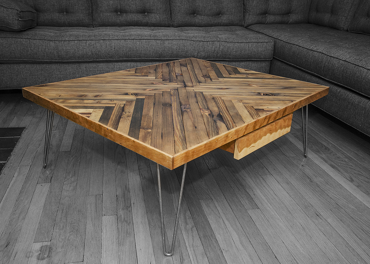 Couchtisch Made Herringbone Coffee Table | Rh Timber