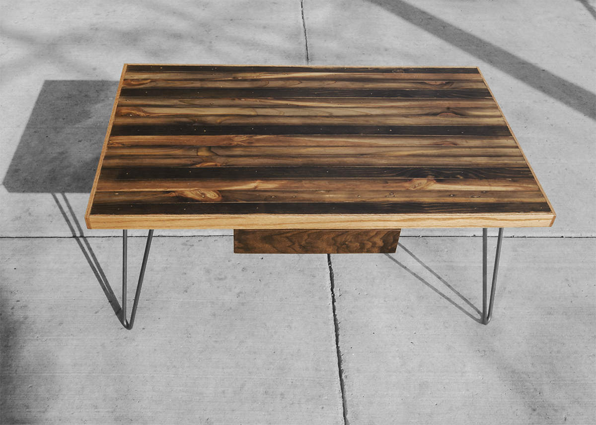 White And Timber Coffee Table Striped Coffee Table Rh Timber