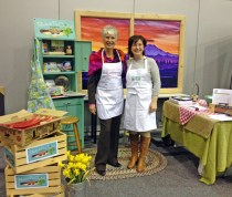 Tracy Farhad of Solvang, California brought her own apron!