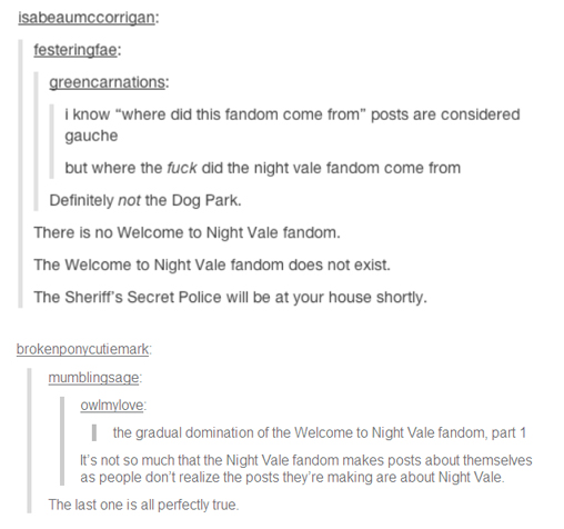 A post about Night Vale fandom on Tumblr