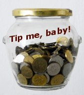 Tip Jar - click the one in the side bar fror exciting adventures in giving me money!