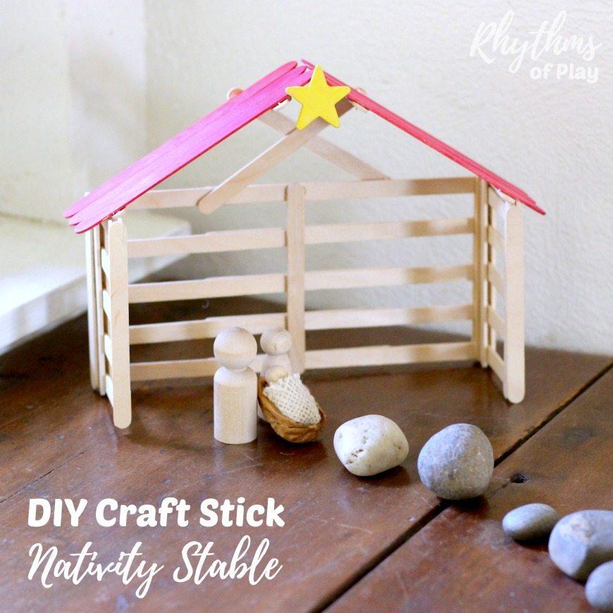 How To Make A Calendar Kids Craft Calendar Crafts For Kids Ideas To Make Your Own Calendars Diy Craft Stick Nativity Stable Tutorial Rhythms Of Play