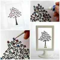Easy DIY Glass Paint Heart Tree | Rhythms of Play