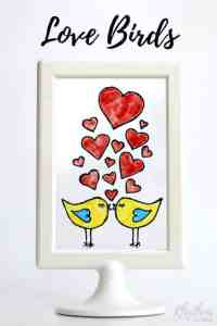 DIY Hand Painted Stained Glass Love Birds with Free ...