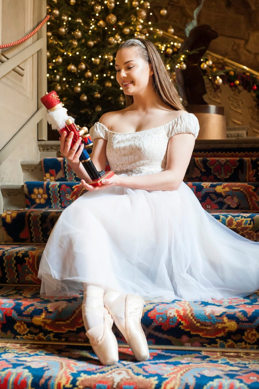 Chatsworth House Press Launch - Ballerinas from the Nutcracker at Chatsworth on the Eve of its Christmas Season Opening - Ballerina Daisy Edwards 04 October 2016 Copyright Paul David Drabble www.pauldaviddrabble.photoshelter.com