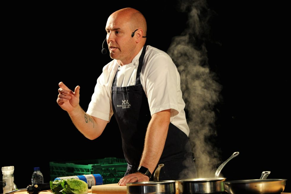 The annual Bolton Food and Drink Festival once again attracted large crowds on its fourth and last day. Chef Aidan Byrne from Manchester House during his demonstration. Picture by Paul Heyes, Monday August 29, 2016.