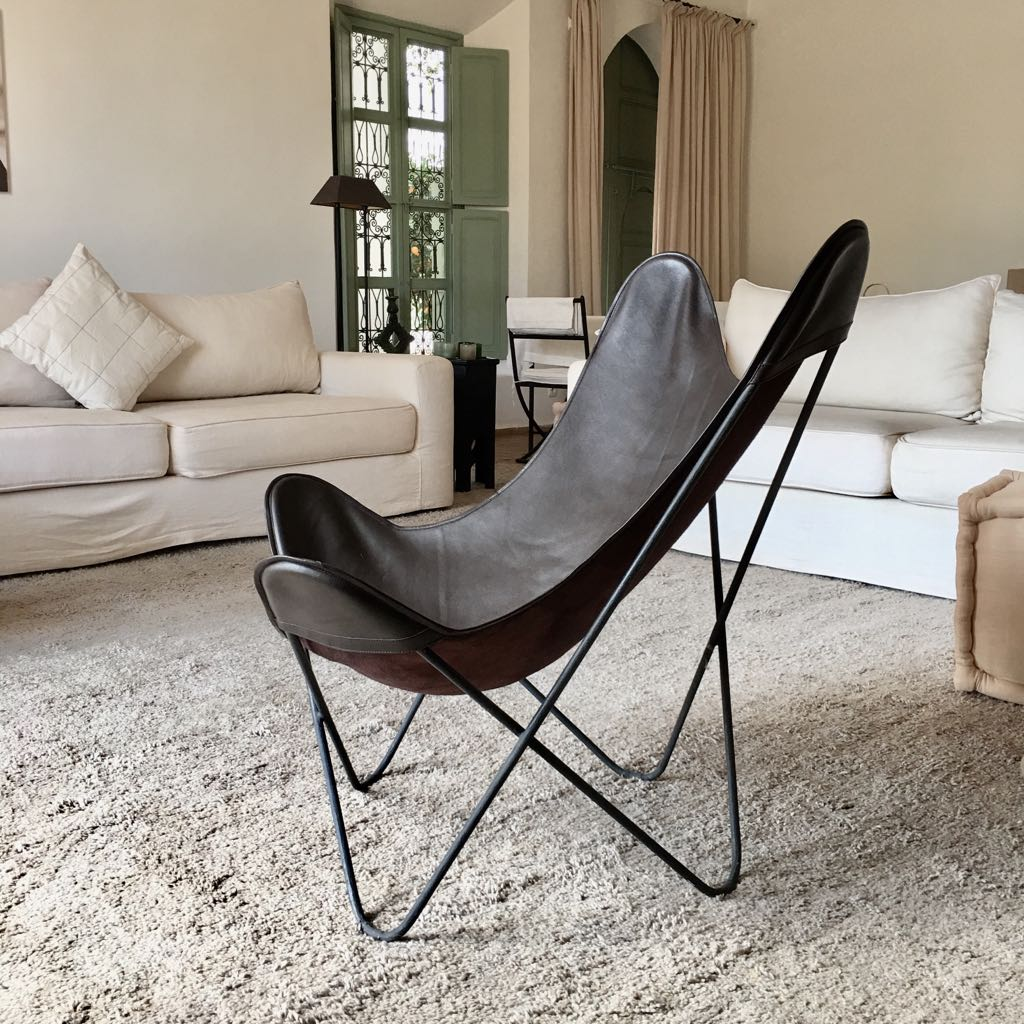Butterfly Chair Leder Butterfly Stoel Indoor Leder